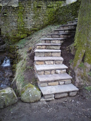 Curved steps after