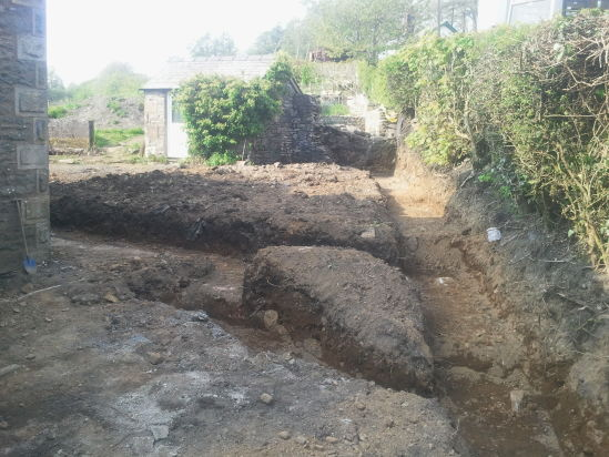 Footings dug out