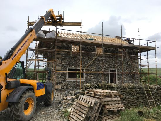 Roof timbers on