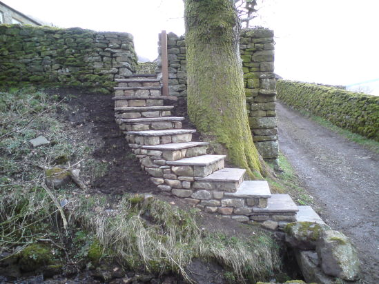 Curved steps after
